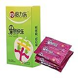 CuiGuoPing 10 Stück/Box Fruchtgeschmack Ultradünnes Kondom für Männer, Geschmiertes Kondom,...
