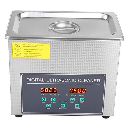 AYNEFY Máquina de limpieza por ultrasonidos digital de dos frecuencias, de acero inoxidable, dispositivos de limpieza que se pueden utilizar para fines médicos e industriales, 3 l
