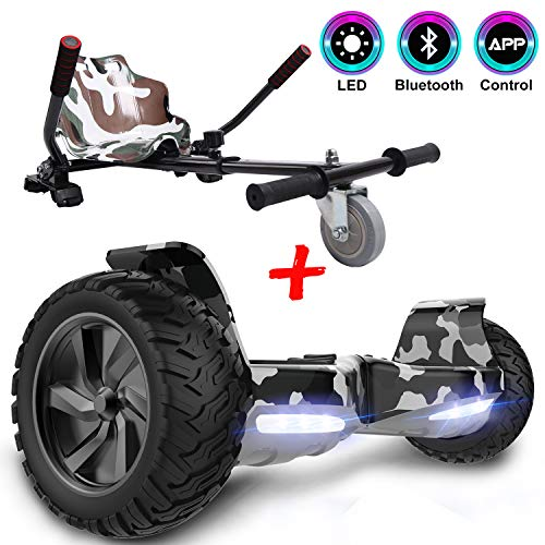 GeekMe Gyropode Auto-équilibré Scooter électrique 8,5 '' Tout Terrain avec Moteur Puissant...