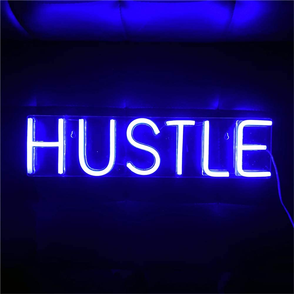 trust Finally resale start Hustle LED Neon Sign Novelty Hang Wall Art Light Decorative