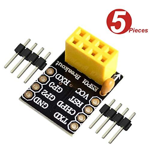 DollaTek 5Pcs ESP8266 ESP-01 ESP-01S Breakce Breadboard Adapter Transceiver Module WiFi (ESP8266)