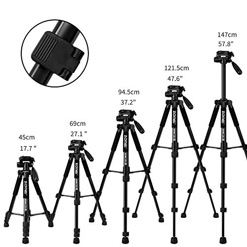 ZoMei Q222 - Trípode para cámara réflex Digital (55 Pulgadas ...