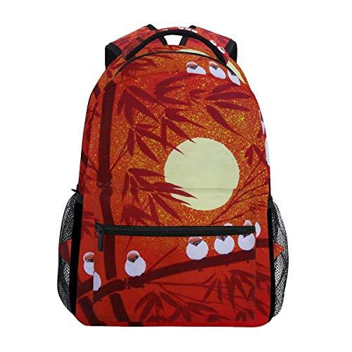 poiuytrew Birds Sunset Landscape Backpack Students Shoulder Bags Travel Bag College School Backpacks