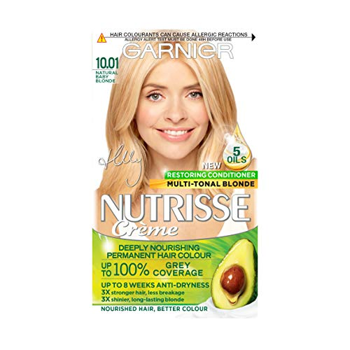 Garnier Nutrisse Blonde Hair Dye Permanent, Up to 100 Percent Grey Hair...