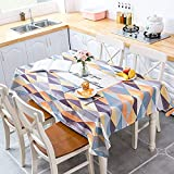 XXDD Mantel Impermeable de polígono con geometría de Estilo nórdico Fresco para decoración de cocinas del hogar Mantel A4 150x210cm