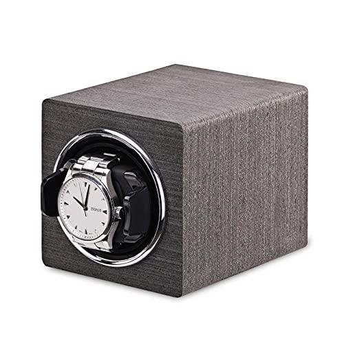 N\C Enrollador de Reloj automático para 1 Reloj: Compacto, de Calidad, Caja de enrollador de Reloj Individual, Motor súper silencioso, Funciona con batería y Adaptador de CA, Reloj automático Fit Man