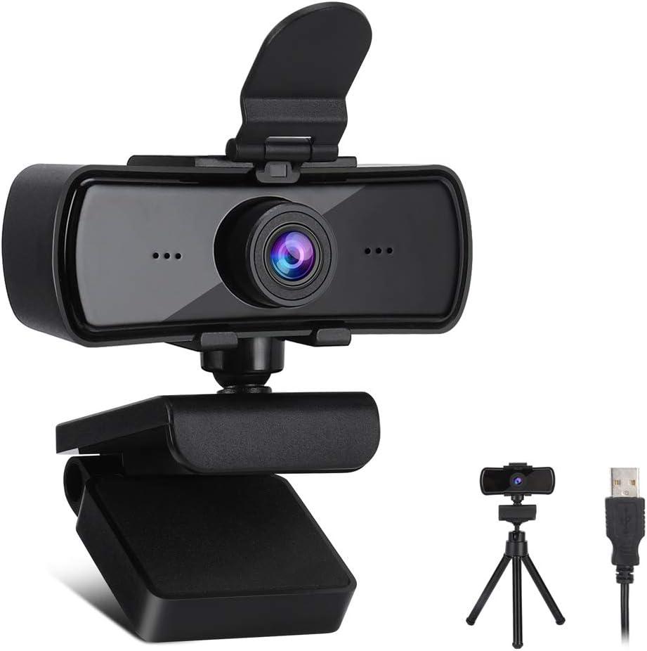 Cam/éra Web Full HD 1440P Webcam USB Plug and Play Webcam en Streaming pour Les appels vid/éo /étudiant Les Jeux de conf/érence en Ligne Webcam HD 2K avec Microphone