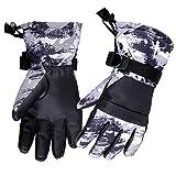 Azarxis Guantes de Esquí Niño Invierno Pantalla Táctil Impermeable Guantes Témicos para Snowboard Ciclimo Niño de 7-13 Años (Gris, S (9-13 Años))