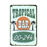 Lorenzo Tropical Bar Vintage Metall Eisen Malerei Plaque Poster Warnschild Wohnzimmer Cafe Bar Bier...