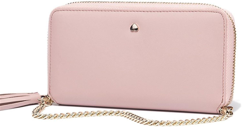 Women Wallet Long Wallet Leather Clutch Bag Ladies Wallet Credit Card Wallet Leather Wallet Female Clutch Ladies Wallet (color   Pink)