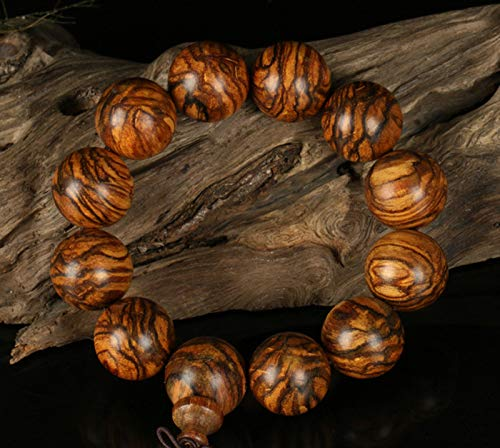 MinegRong Indonesien Stil tibetischen buddhistischen Buddha Armbänder Perlen Armband Halskette Gebet Holz Armband Männer Schmuck Mode-Accessoires, 20 mm