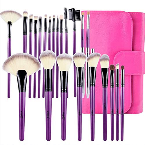 Pinceaux Maquillage 24pcs ensemble professionnel complet des outils de maquillage set de pinceaux ple violet)