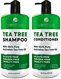 BELLISSO Tea Tree Oil Shampoo and Conditioner Set -...