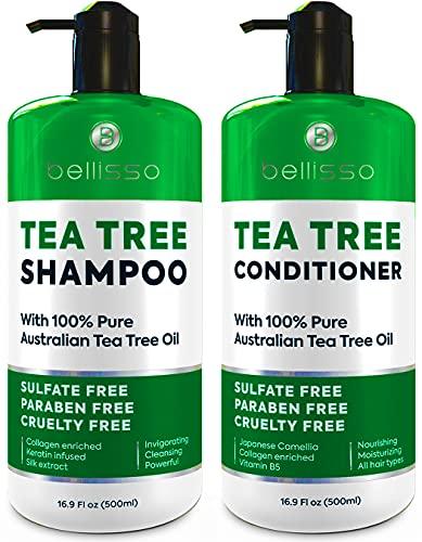 Tea Tree Oil Shampoo and Conditioner Set - Anti Dandruff...