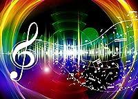 HD10x7ftレインボーミュージック背景音楽記譜法写真背景テーマパーティー壁紙写真ブース小道具BJYYFH18