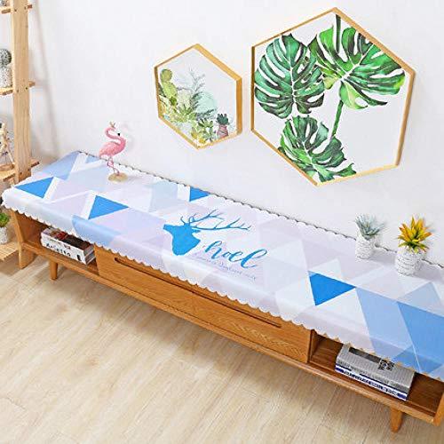 Traann Plastic tafelkleden schoonmaken, vierkant wipe schoon tafelkleed vinyl PVC TV kastafdekking stof woonkamer kleurrijke driehoek 40*160