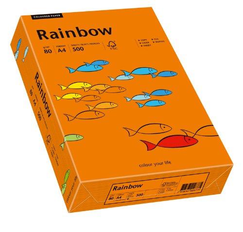 Papyrus 88042453 Drucker-/Kopierpapier bunt, Bastelpapier: Rainbow 80 g/m², A4, 500 Blatt, Matt, intensivorange