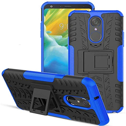 LG Stylo 4 Case,LG Stylo 4 Plus Case,LG Q Stylus Case,Numy Dual Layer Shockproof,Highly Protective w Kickstand Hard PC & Soft TPU Phone Case,w HD Screen Protector,Attractive Tire Appearance-Blue