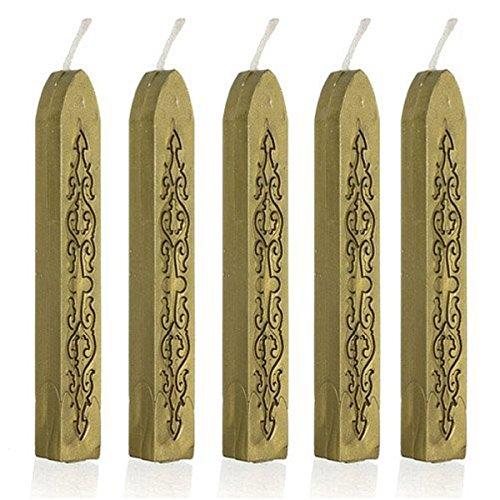Cachet de cire, Puqu vintage Cordon traditionnel Manuscript Joint d'étanchéité Bâtons de cire pour envoi postal enveloppe Lettre invitations Décor doré