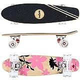FunTomia Mini-Board Cruiser Skateboard 57cm aus 7-lagigem kanadischem Ahornholz inkl. Mach1 ABEC-11 Kugellager