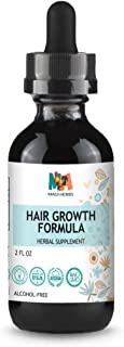 Hair Growth Formula Tincture Alcohol-Free Liquid Extract (Ginger, Ginseng, Polygonum, Grape Seed Oil, Nettle, Ginko Biloba)