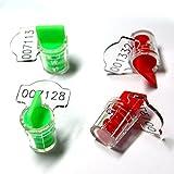 ZhengCheng(R) - Sellos de medidor de plástico con alambres de cobre (200 unidades)