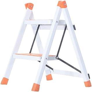 MKJYDM Escalier à deux niveaux de stockage tabouret pliant épais chaise d'escalier matériau cuisine chambre intérieur mult...