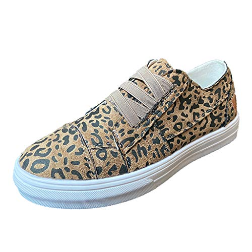 Refill 2020-2021 Planner Women Canvas Slip On Sneakers Classic Leopard Print Sport Casual Shoe 2020 Graduation Gifts Sneakers Brown