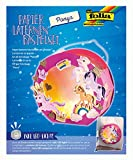 Folia- Juego de Manualidades para faroles, diseño de Ponis, Incluye Varilla y luz LED, ponys, Color carbón (68106)