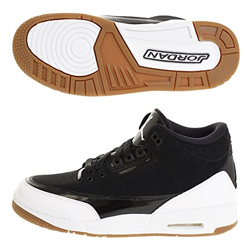 Nike Air Jordan 3 Retro GS Hi Top Trainers 441140 Sneakers Shoes (UK 3.5 us 4Y EU 36, Black White Gum 022)
