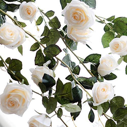 Duhe Single-fit fiore artificiale all'ingrosso 6ft australiano rosa vite di nozze decorazione della casa falsa decorazione del fiore per la cerimonia nuziale