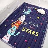 Zinsale Große Verdicken Baby Krabbeldecken Baumwolle Spielmatte Kindergarten Aktivität Pad Krabbelmatte (Katze)