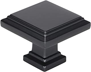 homdiy Square Cabinet Knobs Black Drawer Knobs 25Pack MO9111BK Black Knobs for Dresser Drawers Black Kitchen Cabinet Knobs