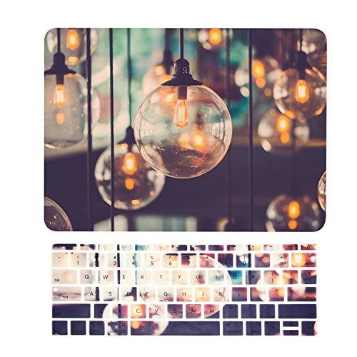 TOP CASE  2 in 1 Signature Bundle MacBook Brilliant Light Pattern Hard Case  Keyboard Cover Compatible MacBook 12quot Retina Model A1534  Brilliant Light
