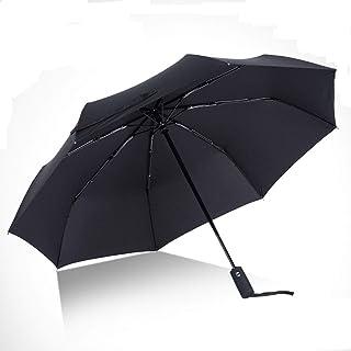 折りたたみ傘 ワンタッチ自動開閉 高強度グラスファイバー Teflon撥水加工 頑丈な8本骨 晴雨兼用 137cm 日傘 UVカット 紫外線遮蔽率99% 高密度NC布 収納ポーチ付き