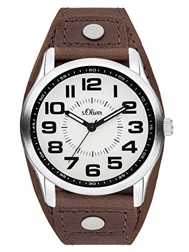 s.Oliver Time Reloj Aprende la Hora para Mujer de Cuarzo con Correa en Cuero SO-3383-LQ