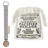ESLESGREEN Chupetero en algodón y madera con bolsa de regalo - Regalo...
