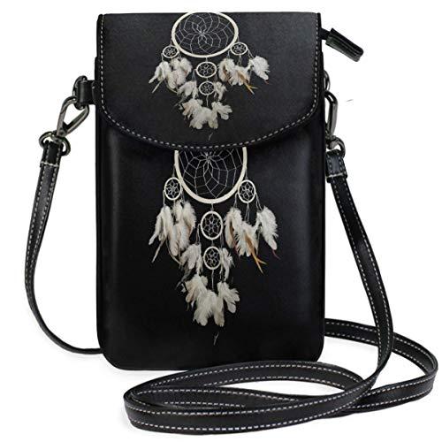 XCNGG Monedero pequeño para teléfono celular Dream Catcher Cell Phone Purse Wallet for Women Girl Small Crossbody Purse Bags