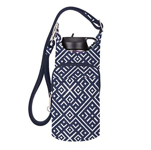 Travelon Anti-Theft Boho Water Bottle Tote Sling, Mosaic Tile, One Size