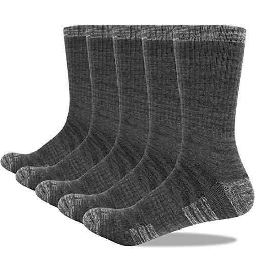 Calcetines Informales con cojín de algodón Transpirable Desodorante para Hombres, 5 Pares/Lote 38-45 EU-a1-L(Men 6.5-9.5 US)