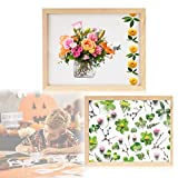 Paper Making Screen Kit, 2PCS Wooden Paper Making Supplies Papermaking Mould Frame, Paper Flower Kit Papermaking Screen for DIY Paper Craft and Dried Flower Handcraft(2 Sizes)