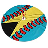NPZBHoney3x5 Bahamas Flag Baseball Clip Art Christmas Tree Skirt Country Xmas Tree Decorations Tree Skirts