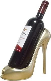 NAIZEA High Heel Wine Bottle Holder, High Heel Shaped Wine Bottle Holder Stand (Champagne Gold)