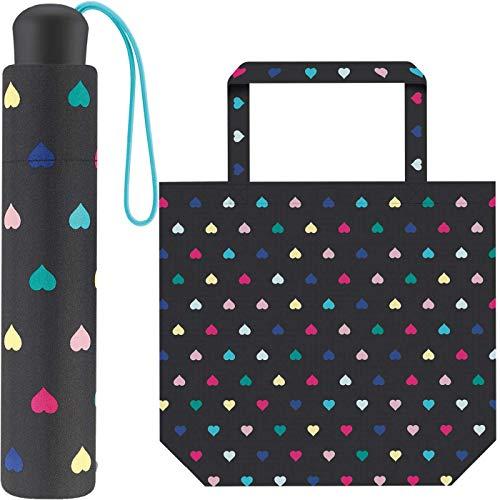ESPRIT Regenschirm mit Herz-Print