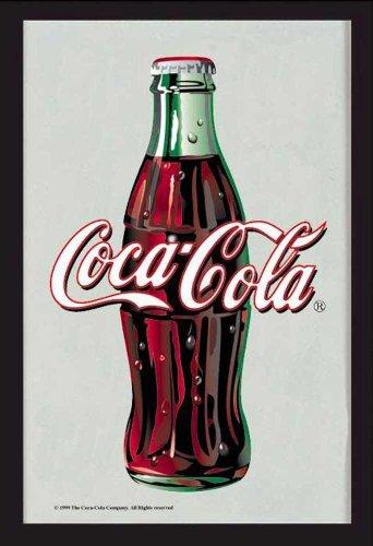 Empire 544254 Miroir imprimé Bouteille de Coca-Cola avec Cadre en Plastique façon Bois 30 x 40 cm