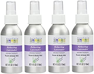 Aura Cacia Lavender Aromatherapy Mist 4 Ounces (Pack of 4)