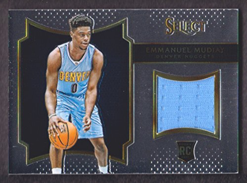 2015-16 Select Rookie Swatches #16 Emmanuel Mudiay Jersey 004/149 Denver Nuggets