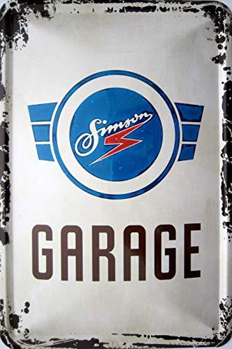 vielesguenstig-2013 Blechschild 20x30cm - Simson Garage Vintage Logo