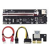 ALB Vendor VER009S Plus PCI-E Riser Card PCI Express 1X 16X USB 3.0 Cable SATA to 6Pin Connector