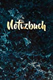 Notizbuch: Schönes Marmormosaik Notizbuch | Journal Notebook | Elegantes blaues goldfarbenes Notizbuch zum Selberschreiben | Gold und Marmor Notizbuch für Notizen | Leeres Liniertes Notizbuch